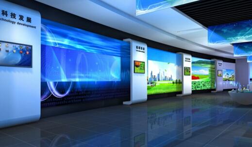 企业展厅设计效果图
