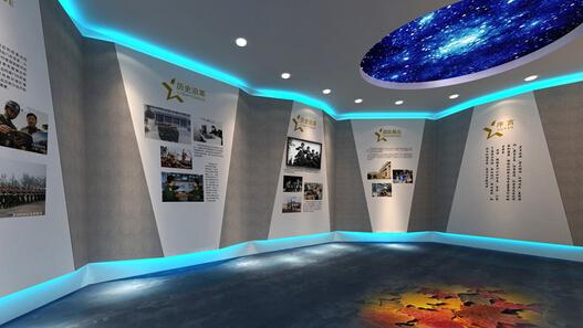 展厅设计的空间感将更为饱满,科技元素融合空间设计,我们将感受到一个